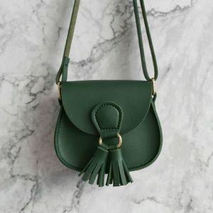 Handbags - Mini Tassel Crossbody Bag (green)